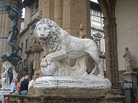 Lion of Loggia de' Lanzi left.JPG